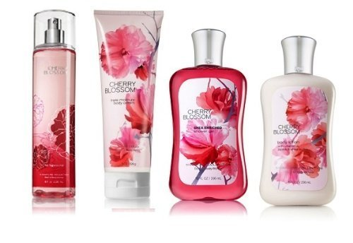 - Bath & Body Works Signature Collection Cherry Blossom Gift Set ~ Body Cream ~ Shower Gel ~ Body Lotion & Fragrance Mist. Lot of 4