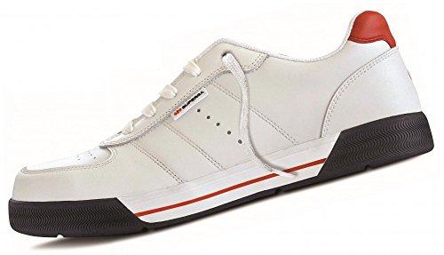 Chaussure basse de travail Superga en cuir fleur spalmato en polyuréthane blanc