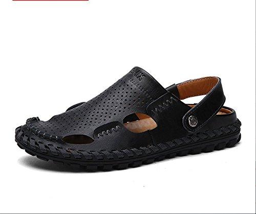 Xing Lin Sandales En Cuir Hommes Sandales D'été Plage L Chaussures Hommes Occasionnels Non-slip Double Utilisation Conduite 43 Chaussures En Cuir, Sandales, Chaussures En Cuir Noir Code []