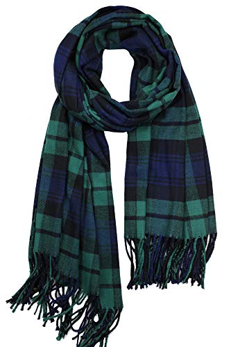 "Achillea Oversized Cashmere Feel Scotland Scottish Tartan Plaid Scarf Shawl Wrap Winter Warm 80"" X 30"""