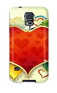 Premium Galaxy S5 Case - Protective Skin - High Quality For Love Heart Abstract Graphics