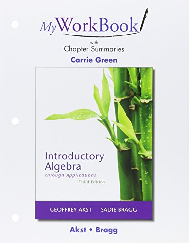 MyWorkBook for Introductory Algebra through Applications Plus NEW MyLab Math with Pearson eText -- Access Card Package (