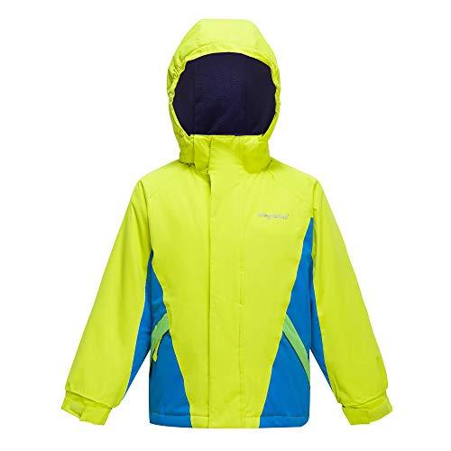 - YINGJIELIDE Boy's Waterproof Ski Jacket Kids Outdoor Windproof Fleece Lined Hooded Winter Coat Fluorescent Green 11-12 Years
