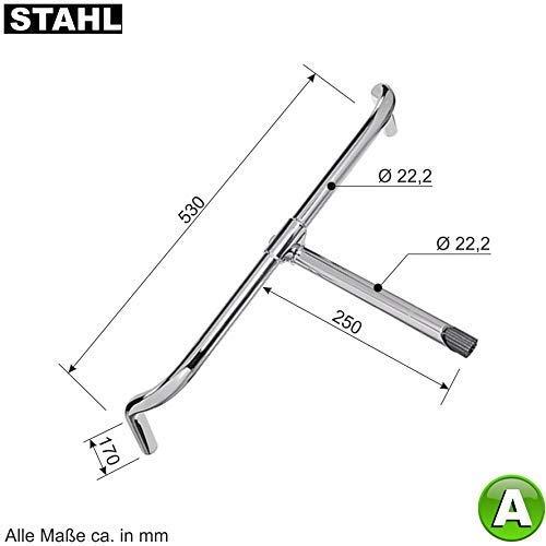 Lenker für Hollandrad aus Stahl, Ø 22,2 mm, 53cm breit