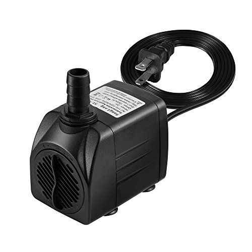 417HTqZhIWL - Timaik Submersible Water Pump 400 GPH (1500L/H) By For Pond, Aquarium, Fish Tank, Pet Fountain Water Pump Hydroponics with 6ft (1.8m) Power Cord