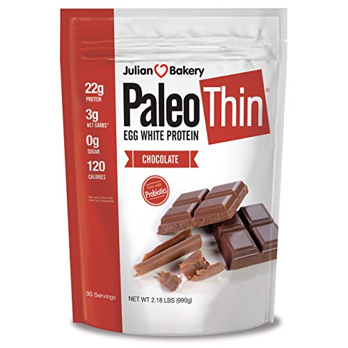 - Julian Bakery : Paleo Protein Powder : Chocolate (Egg White) (2lbs) (Soy-Free) (30 Servings)