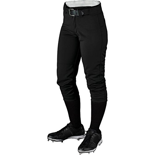 Wilson Women's (Low-Rise) Heavyweight Poly Warp Knit Softball Pant , Black, Large
