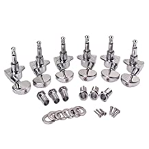 Dovewill Pack of 6 Chrome Guitar Tuning Pegs Keys Locking Tuners for Acoustic Electric Guitar Parts 3R+3L