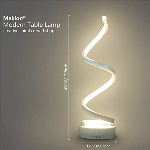 tools, home improvement, lighting, ceiling fans, lamps, shades,  table lamps 12 picture Makion Spiral LED Table Lamp, Curved LED Desk in USA