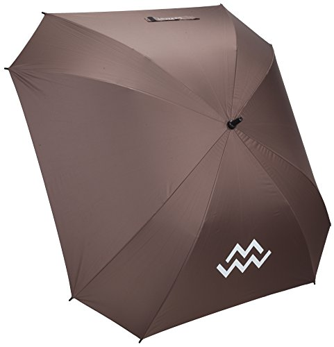 Marino Golf Umbrella Windproof - 62 inch Extra Large - Square Unbreakable Rain Umbrella - UV Protection and Lightning Protection (Brown)