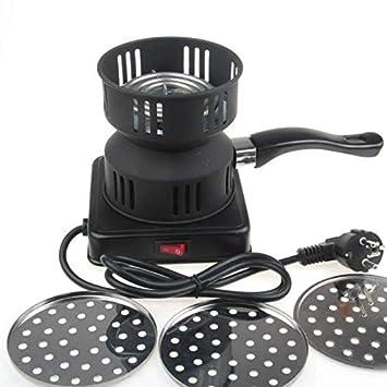 Quemador de carbón de leña eléctrico del metal 650W incluyendo la bandeja extraíble + las pinzas estiraron la estufa de carbón de leña para el uso del ...