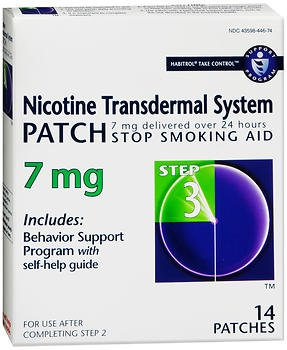 Habitrol Nicotine Transdermal System Patches 7 mg Step 3 - 14 Patches, Pack of 3