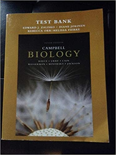 Test Bank For Campbell Biology Tenth Edition Paperback Zalisko