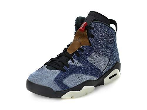 Nike Mens Air Jordan 6 Retro Washed Denim Washed Denim/Black Denim Size 10