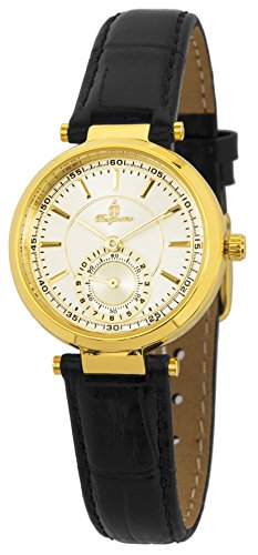 Burgmeister Women's Quartz Metal and Leather Casual Watch, Color:Black (Model: BM336-272)