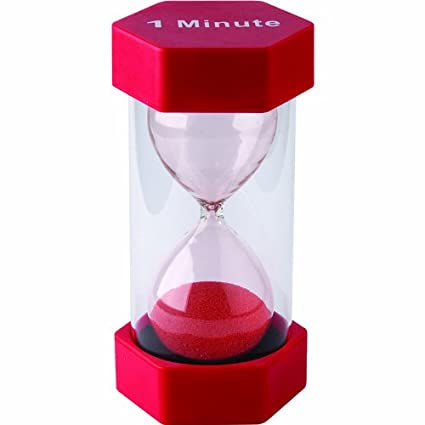 amazon com teacher created resources large sand timer 1 minute set