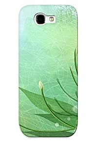 Galaxy Note 2 Case - Tpu Case Protective For Galaxy Note 2- White Flowers Case For Thanksgiving's Gift