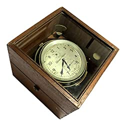Antiques World Made in England Albans Original 1940s Collector's Piece Maritime Vintage Thomas Mercer Ltd. Marine Chronometer AWUSAWC 050