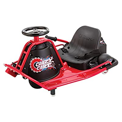 Razor Crazy Cart Electric 360 Spinning Drifting Kids Ride On Outdoor Go Cart : Toys And Games : Sports & Outdoors
