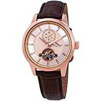 Lucien Piccard Open Heart GMT Rose Gold-tone Dial Men's Automatic Watch