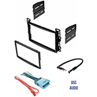 ASC Audio Double Din Car Stereo Dash Kit, Wire Harness, and Antenna Adapter for some Chevrolet - Vehicles Listed Below