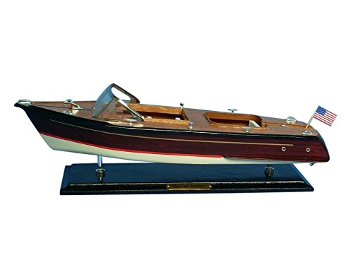 Hampton Nautical  Chris Craft Runabout Speedboat, 20