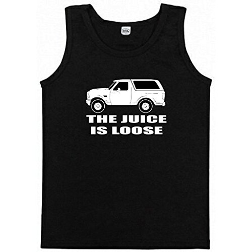 "Price comparison product image OJ Simpson White Bronco ""Juice is Loose"" TANK TOP ADULT LARGE"