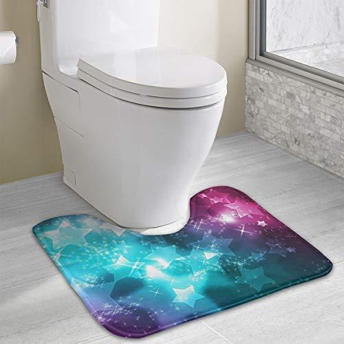 Custom Non-Slip Toilet Rug Girly-Wallpapers-hd-for-Desktop-Wallpaper U-Shape Absorbent Floor Mat Soft Cushion Shower Mat Polyester Bath Rug for Bathroom
