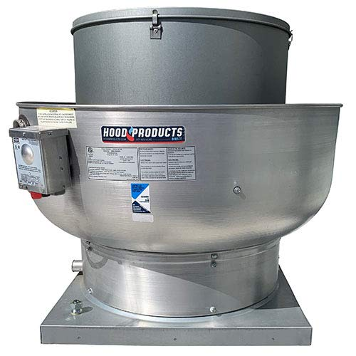 - 1000 CFM Restaurant Upblast Exhaust Fan for Grease Rated Canopy Hood - .333 HP / 115 V/Single Phase With 21