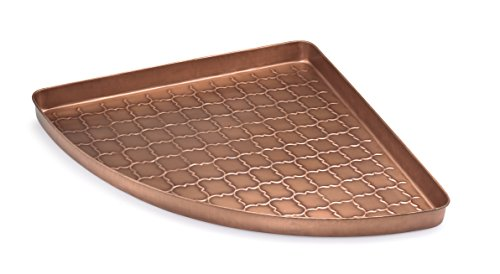 Good Directions Barcelona Multi-Purpose Serving Tray, Boot Tray / Shoe Tray - Copper Finish (22 inch) with Handles - Food, Drinks, Plants, Pet Bowl, Garage, Entryway, Entrance, Foyer Decorative Dog Bowls