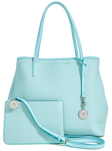 Vegan Leather Tote for Women - Large Ladies Handbag Bag Purse with Bonus Gift Cross Body Pouch Included - Pale Tiffany Blue]()