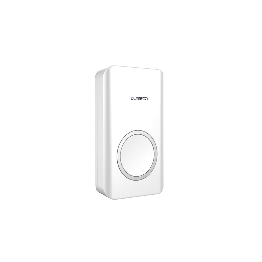 4 Working Modes OL688 Self-Powered Push Button OLRITRON Wireless Doorbell Waterproof Chime Kit Battery-Free Kinetic Doorbell with 1 Remote Button and 2 Plugin Receivers 500ft Range with 58 Chimes