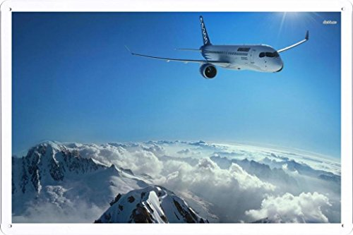 aircraft-tin-sign-10512-bombardier-cs300-by-wallers-decor-78x118