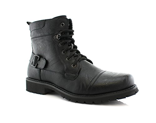 New Motorcycle Combat Work Fox Fabian Dress Boots Polar MPX808006 Black Mens 5xSw40g48