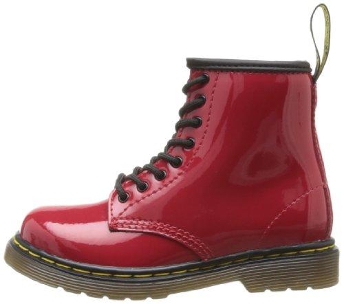 Mixte Martens Rouge Dr Bébé red Patent Boots Lamper Brooklee qqtga