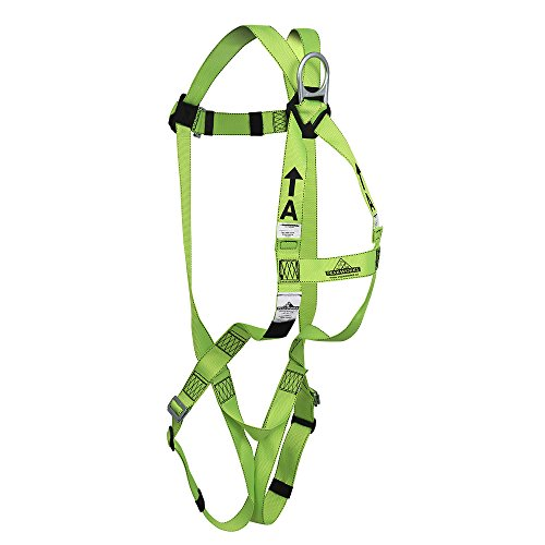 Peakworks Fall Protection V8001000 Industrial, Construction, ANSI Compliant Safety Harness, Universal Fit, Green by Peakworks (Image #3)