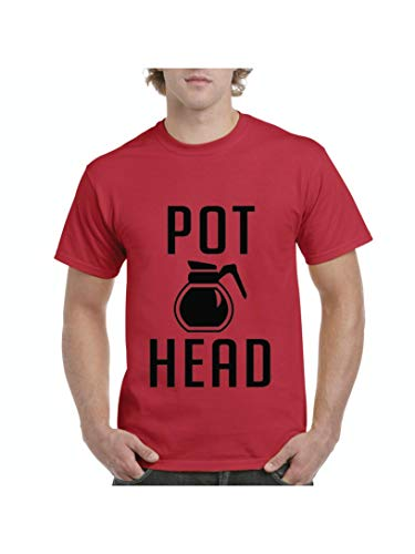 Funny Sayings Coffee Pot Head Men's Short Sleeve T-Shirt (MR)