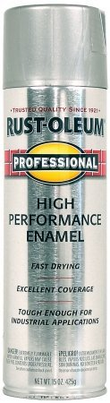 14 Oz Stainless Steel High Performance Enamel Spray Paint 7519-838 [Set of 6]