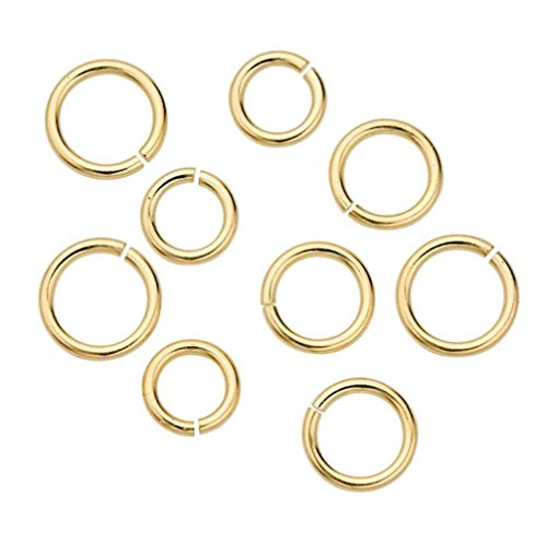 100pcs 8mm Top Quality Open Jump Rings (Wire~0.7mm) 14k Gold Plated Brass for Jewelry Craft Making CF84-8