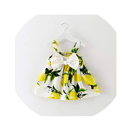 Print Cherry Ve Girl Baby Clothing Casual Kids Clothes Floral Dress Outfit Baby Dresses,As Photo1,6M ()