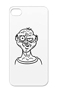 Dirtproof Skeptical Old Guy Black Nerd Miscellaneous Meme Funny Ugly Troll Face Man Funny Geek Grimace Comic Case Cover For Iphone 5/5s