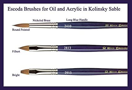 Escoda Kolinsky Brush Series 2410 Round 5×0 Escoda Brush 324105/00