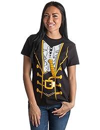 Pirate Buccanneer   Jumbo Print Novelty Halloween Costume Ladies' T-shirt