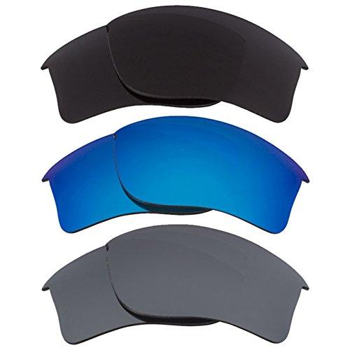 Best SEEK Replacement Lenses Oakley FLAK JACKET XLJ Black Blue - Sale Flak Jacket