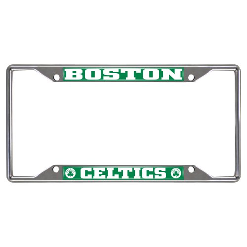 FANMATS  14839  NBA Boston Celtics Chrome License Plate - Frame Nba