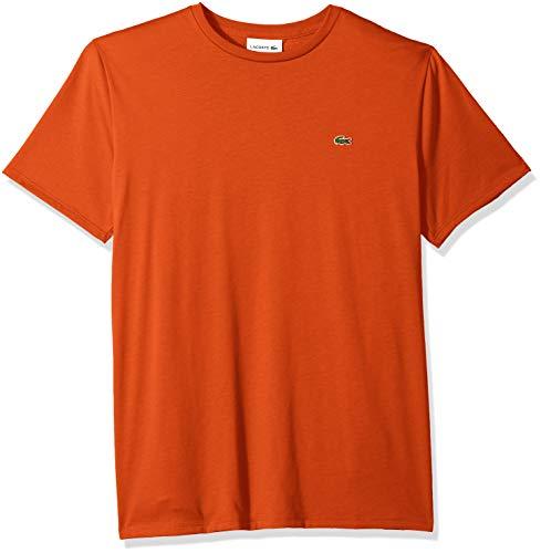 - Lacoste Men's Short Sleeve Jersey Pima Regular Fit Crewneck T-Shirt, TH6709-51, Pomegrenate, 4X-Large