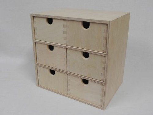 decocraft 222 plain wood wooden storage box cupboard chest of