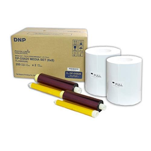 DNP 6x8'' Dye Sub Media for DS620A Printer, 2 Rolls of 200 Prints (Total 400 Prints) by DNP