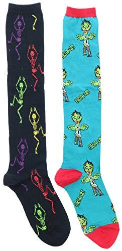 Socksmith Women's Undead Zombie Knee High Socks (2Pr), Cotton Blend
