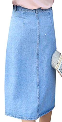 erdbeerloft - Falda - Opaco - para mujer azul claro